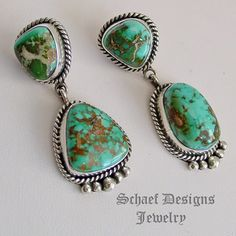 Pilot Mountain Turquoise & Sterling Silver POST earrings | Southwestern Jewelry Basics Collection | Native American Jewelry | online upscale native american & southwestern jewelry boutique gallery| Schaef Designs Southwestern turquoise Jewelry | New Mexico