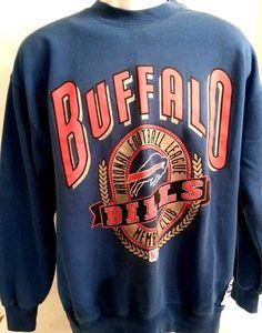#Vintage Team #NFL #BuffaloBills Crewneck Sweatshirt L Large #Nutmeg Mills Blue  #NutmegMills #football