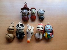 Nightmare before Christmas charms by Lunatica-Reiko
