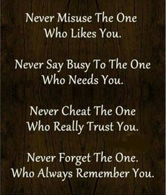 Never............