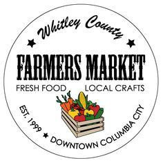 Whitley County Farmers Market logo... sharing fresh food and local crafts from Indiana!