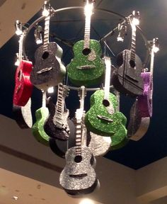 Glitter Guitar Chandelier by Bright Event Productions and Destination Nashville