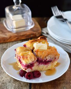 Overnight raspberry-coconut cream stuffed french toast. Sit back and relax with this make ahead dish!