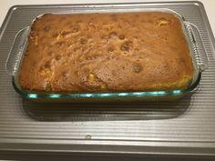 PEACH COBBLER W/CAKE CRUST