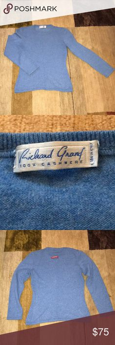 SJP Cashmere Sweater Purchased at an auction - worn once by SJP in Sex in the City! 100% cashmere. Made in Italy. Excellent condition except for tiny hole in right underarm. Richard Grand Sweaters Crew & Scoop Necks