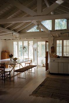 open barn frame in white