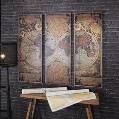 Mapamundi LeClerc, 3 paneles