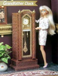 Plastic Canvas Barbie Fashion Doll Pattern Grandfather Clock