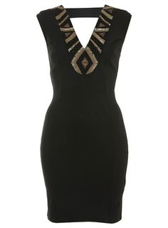 Embellished Trim Dress
