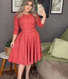 Dresses With Sleeves, Plus Size, Long Sleeve, Vintage, Style, Fashion, Women, Outfits, Skirt