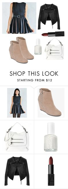 """""""Random"""" by kyanastyle ❤ liked on Polyvore featuring J.O.A., BCBGeneration, Essie, Linea Pelle and NARS Cosmetics"""