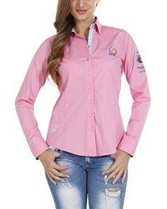 Pontto Blusa Damenbluse Pink Line Collection  [Rosa]