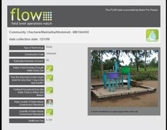 Water for People developed a system called Field Level Operations Watch – or FLOW — to collect data about its water and sanitation projects and then visualize the data with the goal of giving donors an honest accounting of the organization's successes and failures.