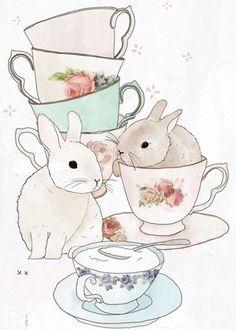 Bunnies and Tea by Tabitha Emma http://tabithaemma.com/blog/