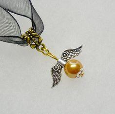 Harry Potter Golden Snitch  2 tone Necklace by paulandninascrafts, $9.99