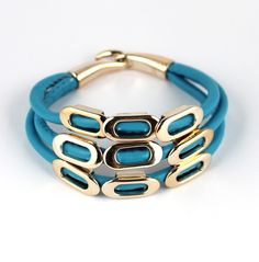 New style Fashion Europe three-layer Leather Bracelet Jewelry S5432