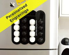 Personalized Engraving Black Dolce Gusto Coffee 16 Pods Holder, Custom Quote Gift, Kitchen Accessory