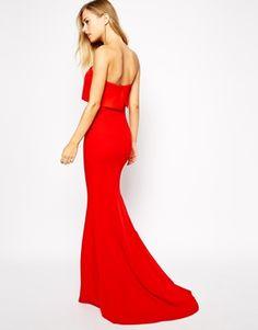 Jarlo Blaze Strapless Maxi Dress with Overlay