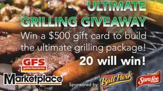 You should enter Ultimate Grill Giveaway by Sara Lee & GFS Marketplace. There are great prizes and I think one of us could win!