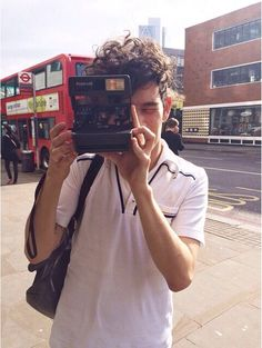 Matty with this Polaroid out and about in London, Can I be with you Matty?