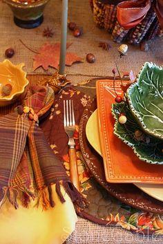 Autumn Patchwork Tablescape