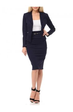 570de027a82 Amy is a 2-piece skirt and jacket set that you can wear to any