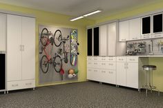 This wall is so strong that it can hold the largest of items such as bikes and snowboards.
