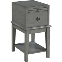 Whether tucked beside an arm chair or serving as a stylish sidekick next to your bed, this 1-drawer end table brings a classic look to any space