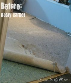 Painted Floors: A How-to ... my gosh ... check out the tut and the after pic ... amazing ..
