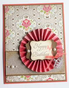 "♥ the use of the Stampin' Up Simply Scored Scoring Tool to make the pinwheel  SAB yummy products used DPS and ""Elementary Elegance"" stamp set"