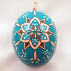 Turquoise etched snowflake – Dore Douty