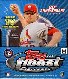 2013 Topps Finest Baseball Cards Hobby Box $95.95