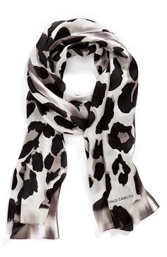 Collection XIIX 'Blur Cheetah' Silk Scarf available at #Nordstrom