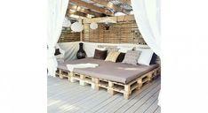 DIY palettes : 39 meubles canon pour l'extérieur ! Outdoor Furniture Plans, Diy Pallet Furniture, Palette Diy, Tv Palette, Pallet Home Decor, Pallet Creations, Beautiful Bedrooms, Diy Projects, Outdoor Decor