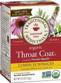 Throat Coat Lemon Echinacea Tea Organic 1 box Traditional Medicinals # What is Echinacea? Echinacea is a plant whose roots and leaves have been traditional Herbal Teas, Organic Herbs, Brewing Tea, Tea Blends, Herbalism, The Cure, Diet, Ketogenic Diet