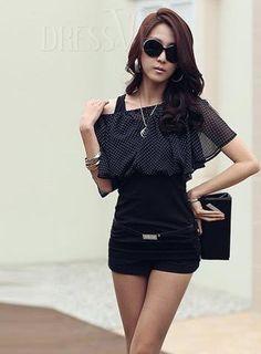 bdc1dc4382  fashion  clothes  sale  beauty Polka Dot Shorts