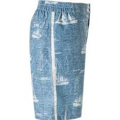 Hackett Bade-Shorts Herren, Mikrofaser, blau Hackett