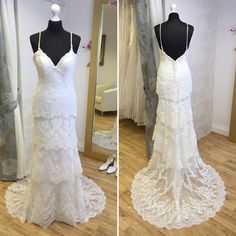 For sale Essense of Australia 'D2068'. Available in size 12. RRP £1495, now just £750! Call 01525 305 008 or email enquiries@lucyhartbridal.com.