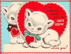 **FREE ViNTaGE DiGiTaL STaMPS**: FREE Digital Stamp - Vintage Kittens Valentine