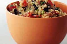 Black Bean and Tomato Quinoa ~ Meatless Main Dishes