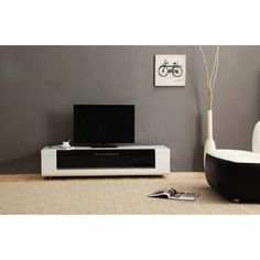 B-Modern Editor Remix Mini TV Stand in White High-Gloss by B-Modern