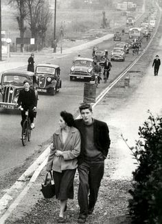 Elizabeth Taylor (not really) on the A20 in Swanley, 1956.