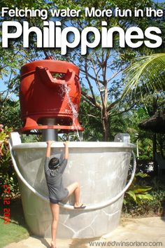 Fetching water. More fun in the Philippines!