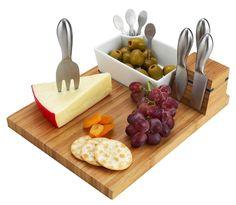 Picnic at Ascot Buxton Cheese Board Ceramic Bowl Tool Set #PicnicatAscot