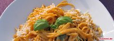 Spaghetti a la Jamie Oliver - Carb Spaghetti, Prosciutto, Gnocchi, Pesto, Risotto, Macaroni And Cheese, Veggies, Cooking, Healthy