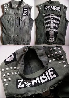 Lucky loser diy clothes sweet site, with sick ideas! Punk Fashion, Grunge Fashion, Gothic Fashion, Diy Fashion, Modest Fashion, Steam Punk, Diy Punk, Looks Rock, Diy Summer Clothes