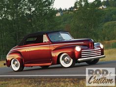 Our 1947 Ford  as featured in the October 2011  Rod & Custom magazine.