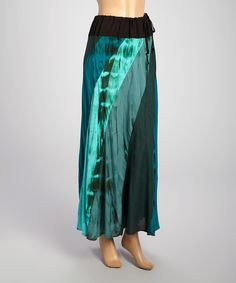 Look at this Turquise & Blue Color Block Maxi Skirt on #zulily today!