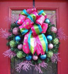 girly christmas wreath