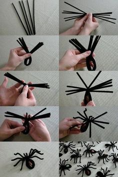 DIY Spider Halloween Decoration Ideas that are creepy as hell - Hike n Dip - - Decorate your home for Halloween with dollar store spiders and cobwebs. Get best DIY Spider Halloween decoration ideas which are easy to do & surely scary. Halloween Spider Decorations, Halloween Party Decor, Halloween 2019, Women Halloween, Costume Halloween, Halloween Makeup, Halloween Couples, Spider Crafts, Diy Halloween Spider